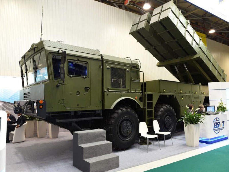 Polonez multiple launch rocket system (MLRS) was on display at ADEX 2016. Image courtesy of MWTP OJSC.