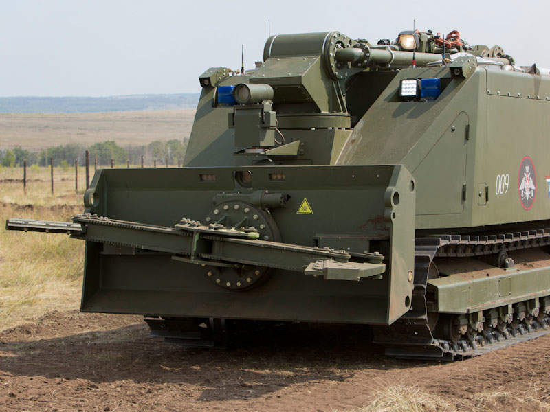 The Uran-14 multi-purpose unmanned ground vehicle has a maximum speed of 12km/h. Image courtesy of Ministry of Defence of the Russian Federation.