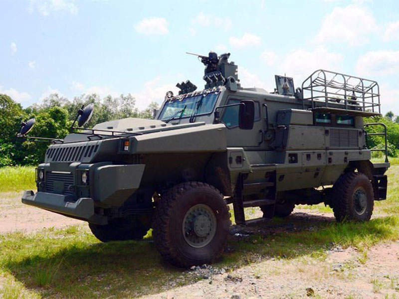 Belrex Protected Combat Support Vehicle was developed by ST Kinetics and Defence Science and Technology Agency. Image courtesy of Government of Singapore.