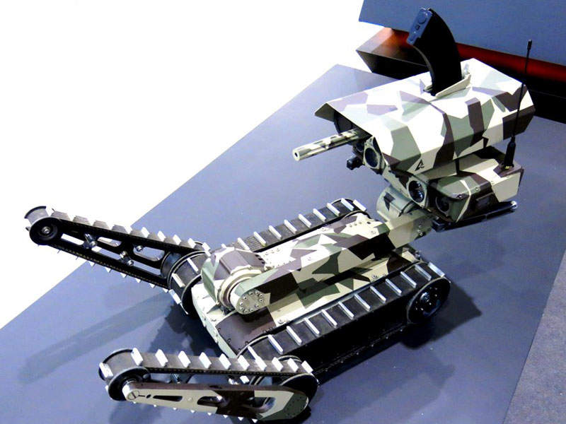 The Minirex tactical robot has a maximum speed of 8km/h. Image courtesy of A. Sokolov.