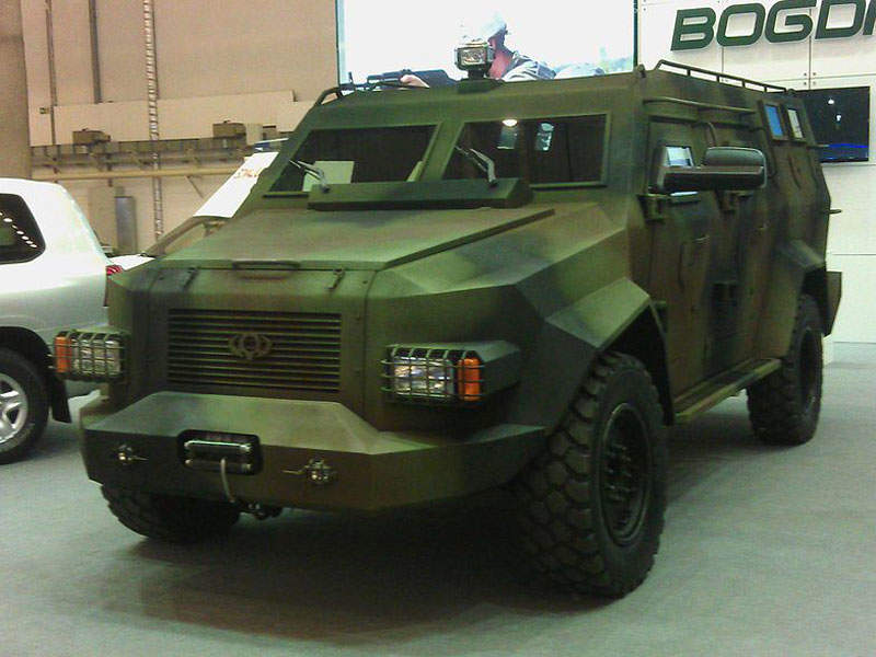 Bars-8 armoured vehicle is manufactured by Ukrainian firm, Bogdan. Image courtesy of Zinnsoldat.
