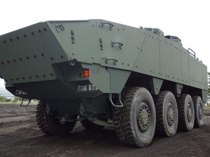 A prototype of the Japan Ground Self-Defense Force's next-generation armoured personnel carrier was unveiled in January 2017. Image courtesy of Acquisition, Technology & Logistics Agency (ATLA).