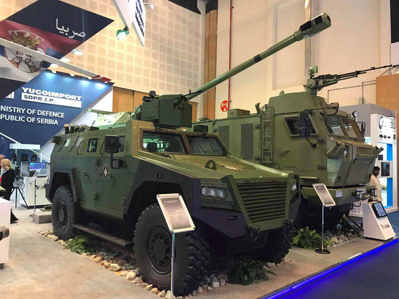 Milosh multi-role armoured vehicle is developed by Yugoimport SDPR. Image courtesy of Ministry of defence Republic of Serbia.