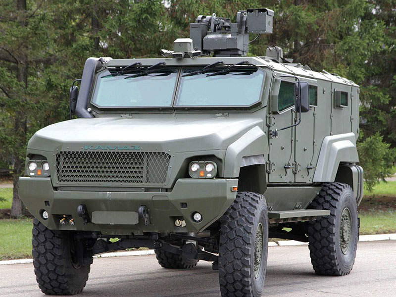 The KAMAZ-53949 Typhoon-K mine-protected vehicle carries ten personnel. Image courtesy of www.roe.ru