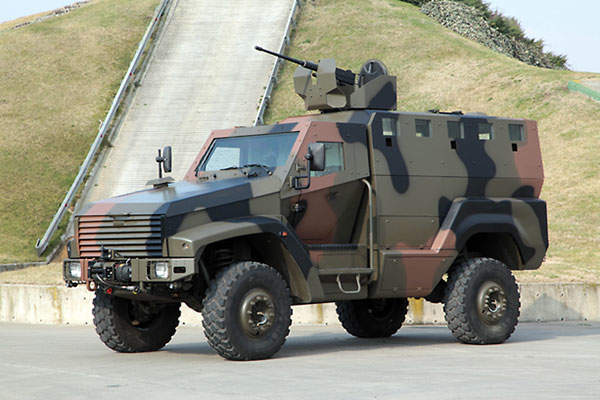 KAYA mine protected vehicle can transport two crew and ten troops.