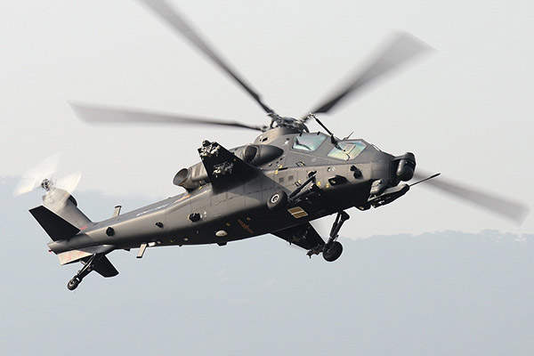 Z-10 is the first domestically-produced modern attack helicopter in China. Image courtesy of Shimin Gu.
