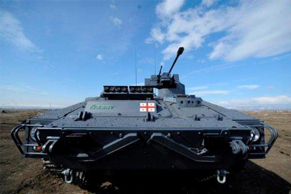 Lazika is Georgia's first indigenously developed infantry fighting vehicle. Image courtesy of WikIunker.