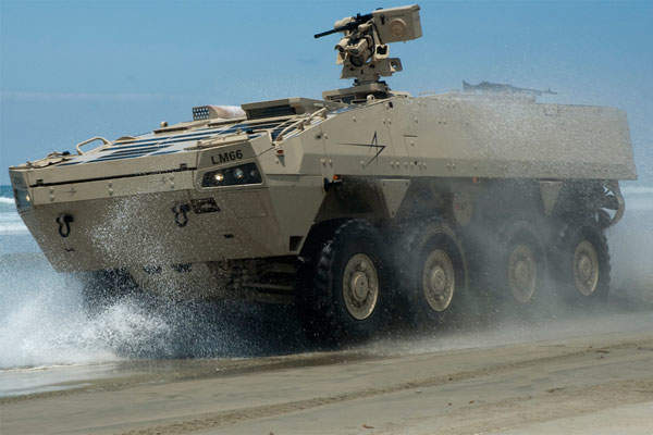 Havoc AMV (armoured modular vehicle) offers greater mobility and safe transportation for troops.