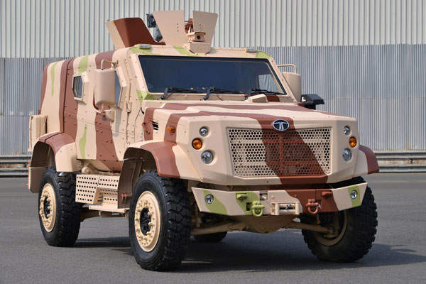 The TATA LAMV (Light Armoured Multipurpose Vehicle) was unveiled for the first time at DEFEXPO 2014.