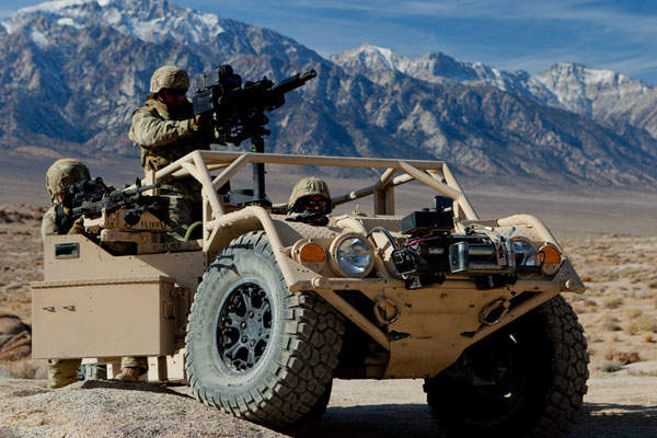 The Flyer Advanced Light Strike Vehicle (ALSV) is designed and manufactured jointly by General Dynamics and Flyer Defense. Image courtesy of General Dynamics Ordnance and Tactical Systems.