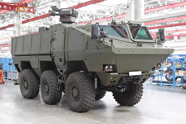 Kamaz-63969 Typhoon is a mine-resistant 6x6 armoured wheeled vehicle. Image courtesy of OJSC KAMAZ 1999.
