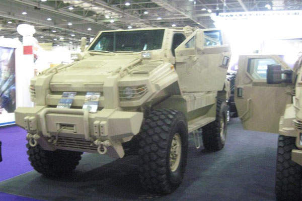 The Typhoon MRAP APC can accommodate one driver and nine troops. Image courtesy of Hmshare.