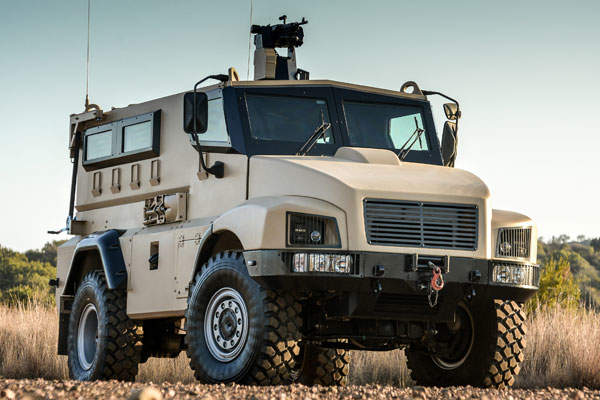 RG21 mine-protected vehicle was unveiled in September 2014. Image courtesy of BAE Systems.