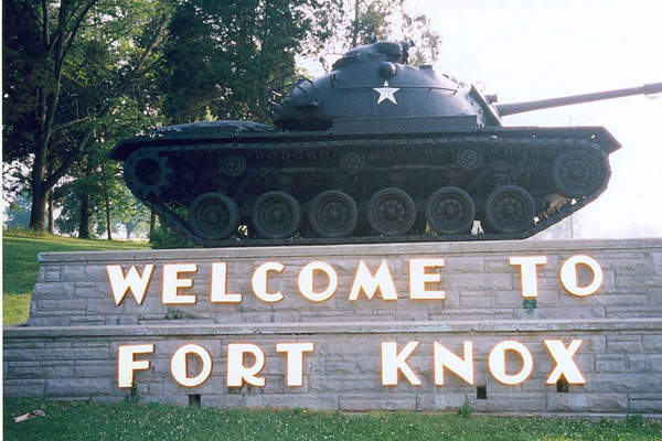 Fort Knox is an US Army base located in Kentucky.