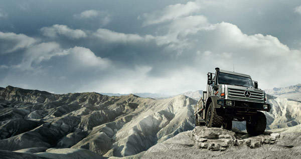 Mercedes-Benz's Unimog U 4000 truck is a multi-utility truck suitable for military as well as industrial applications.