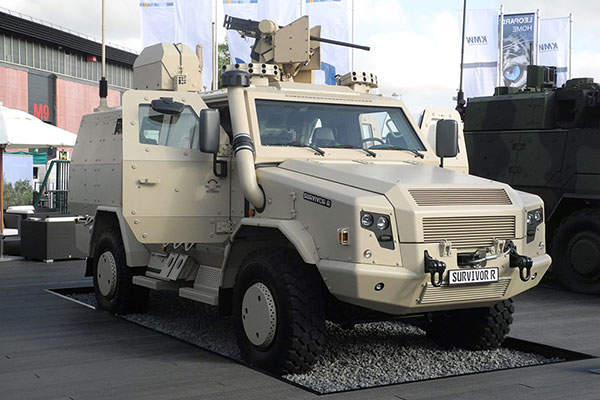 The Survivor R was unveiled at Eurosatory 2014 exhibition held at Paris, France, in June 2014.  Image courtesy of Wolpat.