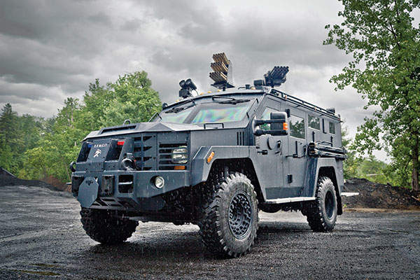 BearCat G3 is 4x4 wheeled armoured response and rescue vehicle manufactured by Lenco Armored Vehicles. Image: courtesy of Lenco Armored Vehicles.