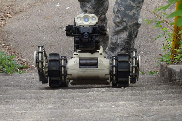 Micro Tactical Ground Robot (MTGR) was first displayed at AUSA 2013 exhibition held in Washington DC. Image: courtesy of ROBOTEAM.