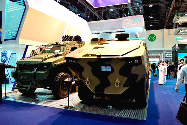 The new Matador 8x8 wheeled armoured personnel carrier (APC) was unveiled at IDEX 2015 held in the UAE. Image courtesy of Streit Group.