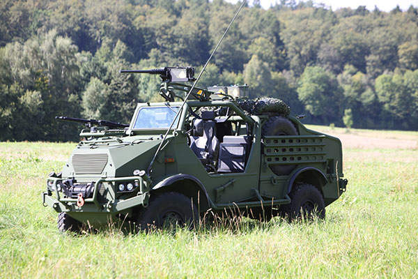 The Special Operation Vehicle (SOV) was jointly developed by Bremach and Krauss-Maffei Wegmann (KMW). Image:  courtesy of Krauss-Maffei Wegmann (KMW).