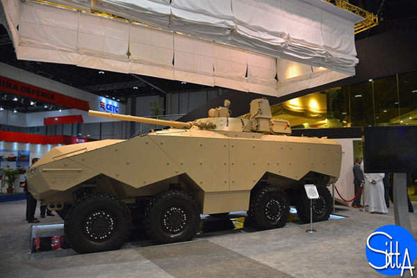 The Enigma 8x8 armoured modular fighting vehicle was unveiled by Emirates Defense Technology (EDT) at IDEX 2015. Image: courtesy of Ministère de la Défense.