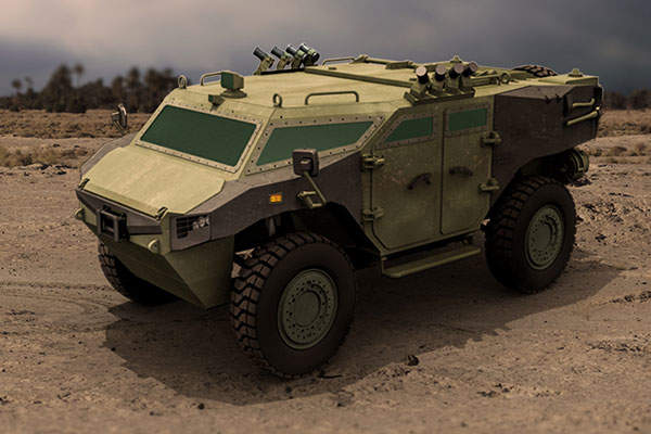 The PARS 4x4 wheeled armoured vehicle was unveiled in May 2015.