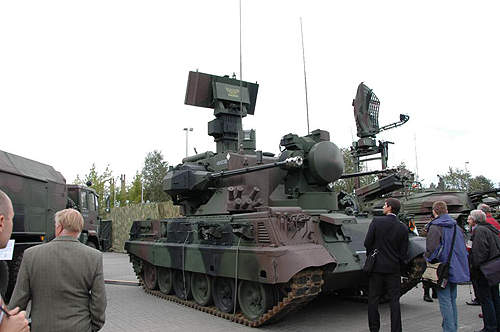 LOARA's armoured turret is fitted with two 35mm cannons and multiple sensors.