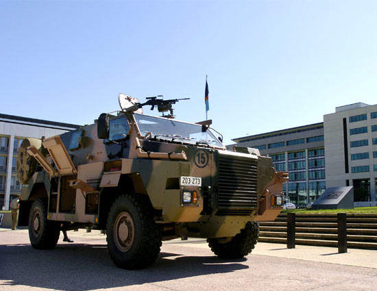 The first of 300 Bushmaster vehicles was delivered to the Australian Army in August 2004.