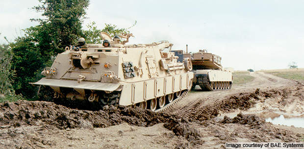 The M88A2 vehicle can winch inoperative heavyweight M1 Abrams tanks.