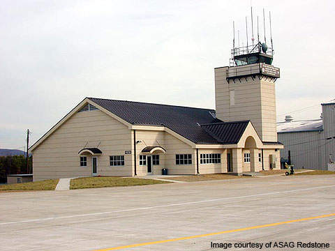 The airfield at Redstone Arsenal is used by Nasa, Army Aviation and Missile Command.