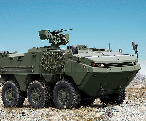ARMA 6x6 was developed for Ozel Maksatli Taktik Tekerlekli Zirhli Arac programme.