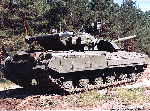 The BM Bulat is the upgraded version of the T-64B MBT.