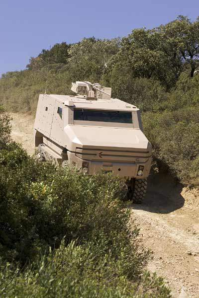 The Aravis vehicle provides high levels of protection against threats from ballistic, mine, artillery burst and improvised explosive devices.