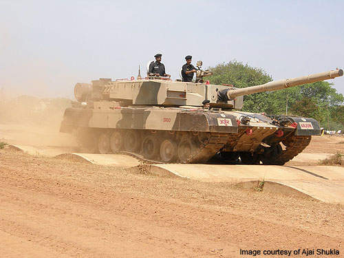 Comparative trials were conducted between Arjun and T-90 tanks to test manoeuvrability in Rajasthan deserts.