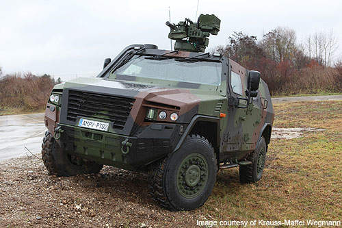 AMPV with a FLW 100 / 200 remote control weapons station on its roof.