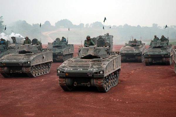 Fleet of Bionix infantry vehicles in service with Singapore Armed Forces