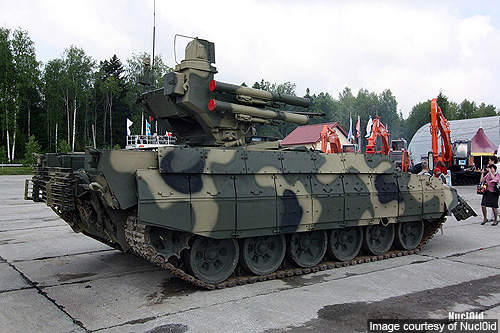The BMPT is powered by a V-92S2, 1,000hp diesel engine, which gives it a maximum road speed of 65km/h.
