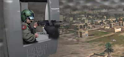 Screen shot of Virtual Battlespace 2 simulation software