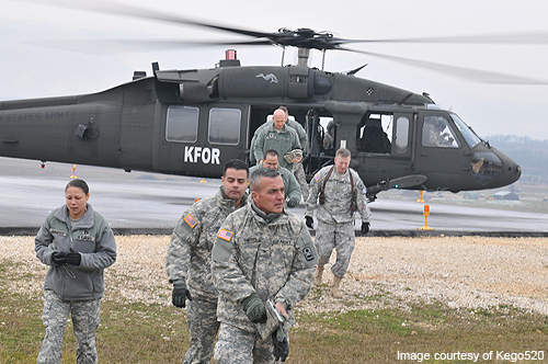 Camp Bondsteel supports helicopter aviation with 52 helipads.