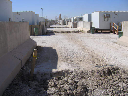 Camp Victory was built with a tent city by Iraqi workers for a troop of about 12,000 soldiers.