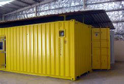 Container in a factory setting
