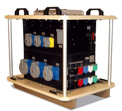 A portable power distribution boxe for military appications