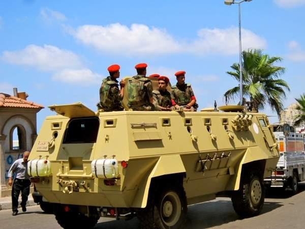 Fahd APC transporting Egyptian Military Police in Alexandria. Image courtesy of Gigi Ibrahim.
