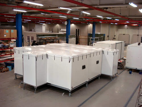 Example of a modularized shelter concept in factory setting