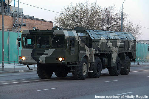 The Iskander (Nato: SS-26 Stone) is a tactical ballistic missile system being manufactured by the Federal State Unitary Enterprise, Design Bureau of Machine Building, for the Russian ground forces.