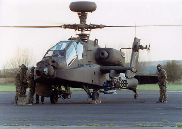 The Apache AH Mk1 attack helicopter was designed specifically for use by the British Army.