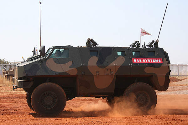 RG34 being demonstrated at Africa Aerospace & Defence 2012. Image courtesy of BAE Systems.