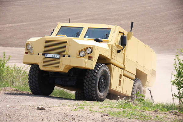 The VEGA armoured vehicle is powered by Cummins diesel engine. Image courtesy of Martin KOLLER.