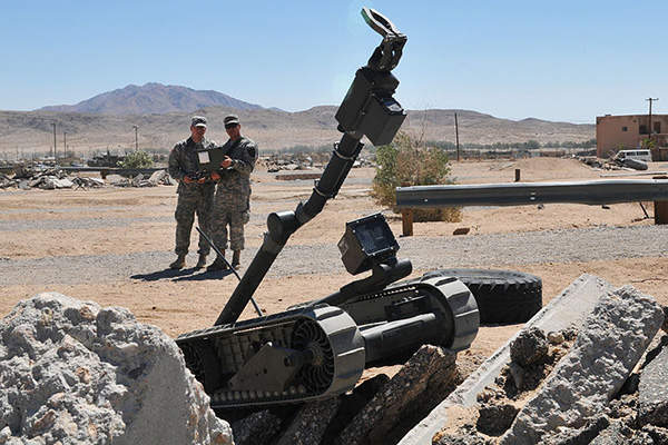 The 510 PackBot can traverse difficult terrains. Image courtesy of U.S. Army.
