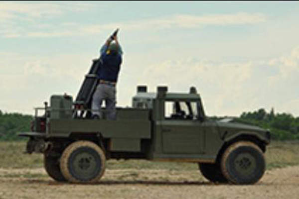 The EIMOS mortar system can be operated by a crew of two.
